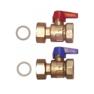 HeatWave UFH Ball Valves c/w, nut, gskt, thermometer 0-60 C