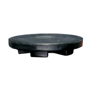 Manhole PE cover equipped with safety lock, load pressure max:
