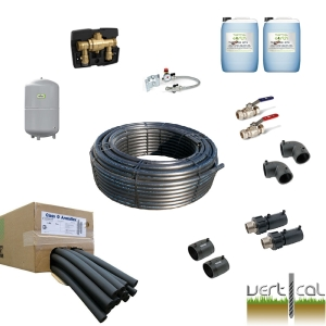 1 Borehole Kit - 50m 40mm HDPE Insulation, EF Fittings,