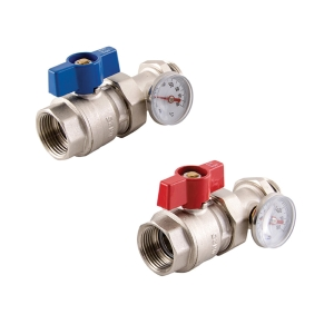 MANIFOLD BALL VALVE & GAUGE (PAIR)