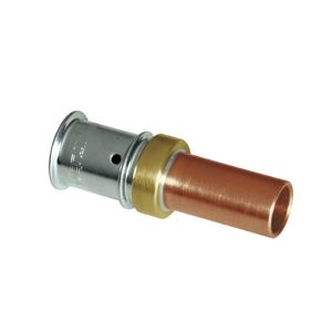 Press adapter - copper 16x2 - 15mm