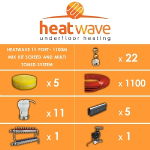 Heatwave 11 Port-1100m Mix Kit Screed and Multi Zoned System