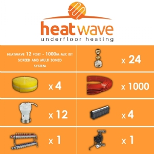 Heatwave 12 Port-1000m Mix Kit Screed and Multi Zoned System