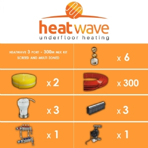 Heatwave 3 Port-300m Mix Kit Screed and Multi Zoned System