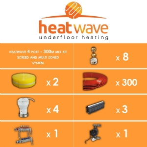 Heatwave 4 Port-300m Mix Kit Screed and Multi Zoned System
