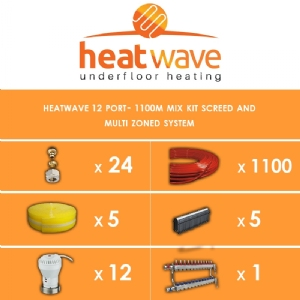 Heatwave 12 Port-1100m Kit Screed and Multi Zoned System