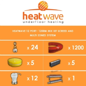 Heatwave 12 Port-1200m Kit Screed and Multi Zoned System