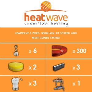 Heatwave 3 Port-300m Kit Screed and Multi Zoned System