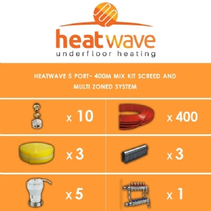 Heatwave 5 Port-400m Kit Screed and Multi Zoned System