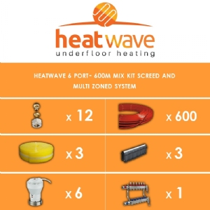 Heatwave 6 Port-600m Kit Screed and Multi Zoned System