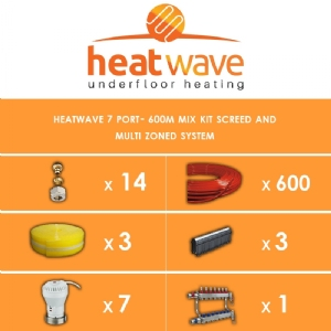 Heatwave 7 Port-600m Kit Screed and Multi Zoned System