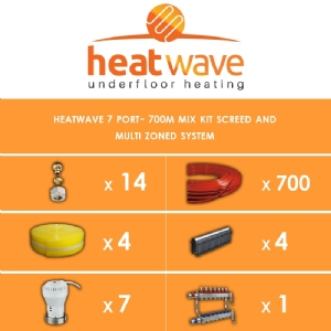 Heatwave 7 Port-700m Kit Screed and Multi Zoned System