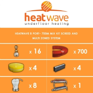 Heatwave 8 Port-700m Kit Screed and Multi Zoned System