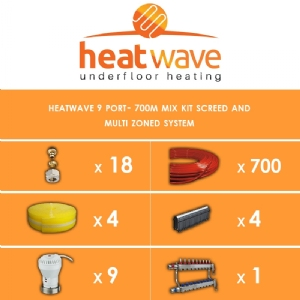 Heatwave 9 Port-700m Kit Screed and Multi Zoned System