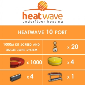 Heatwave 10 Port-1000m Kit Screed and Single Zone System