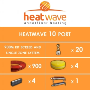 Heatwave 10 Port-900m Kit Screed and Single Zone System