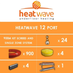 Heatwave 12 Port-900m Kit Screed and Single Zone System