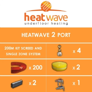Heatwave 2 Port-200m Kit Screed and Single Zone System