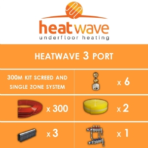 Heatwave 3 Port-300m Kit Screed and Single Zone System