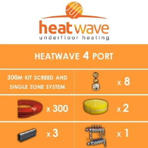 Heatwave 4 Port-300m Kit Screed and Single Zone System