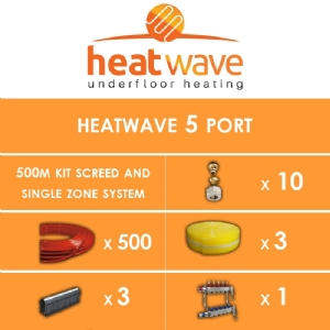Heatwave 5 Port-500m Kit Screed and Single Zone System