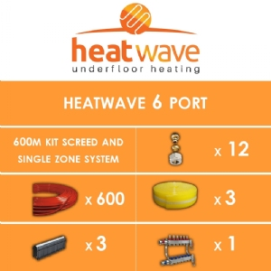Heatwave 6 Port-600m Kit Screed and Single Zone System