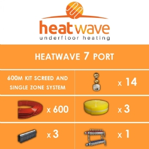 Heatwave 7 Port-600m Kit Screed and Single Zone System