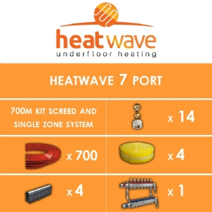 Heatwave 7 Port-700m Kit Screed and Single Zone System