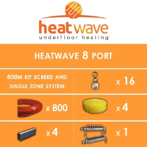 Heatwave 8 Port-800m Kit Screed and Single Zone System