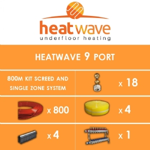Heatwave 9 Port-800m Kit Screed and Single Zone System